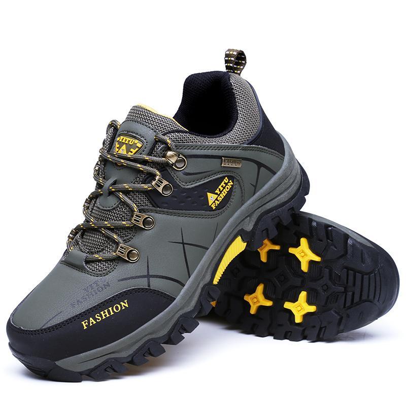 Laki-laki Rendah Anti-Air Non-slip Sepatu Daki Gunung Luar Ruangan Pendakian d407ad0f5e