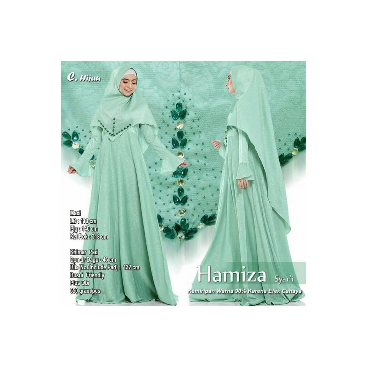 Baju Pengantin Muslimah 118667 HAMIZA SYARI HIJAU