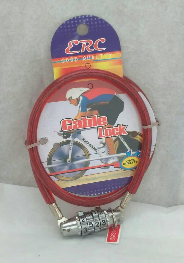 ORIGINAL!!! Kunci Sepeda / Helm Kombinasi 4 angka - 6tEmFE