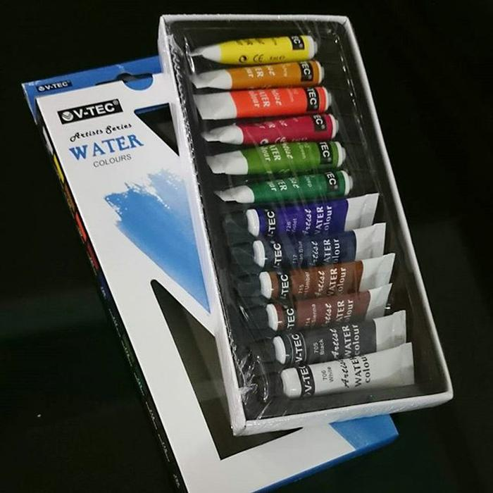 Vtec Watercolour 12 warna x 6 ml Cat Air