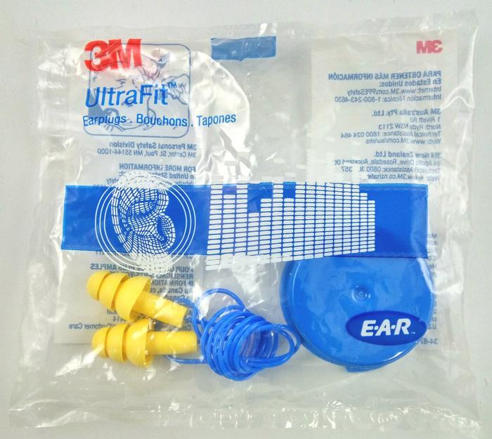 3M Ear Plug Ultrafit Corded - Pelindung Telinga Dengan Casing Termurahh