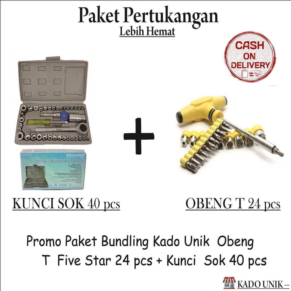 Alat Perkakas Tool Kit Screwdriver Set Obeng Baut Tekiro Kado Unik Promo Paket Hemat Bundling Pertukangan Kunci Sok 40 Pcs Dan