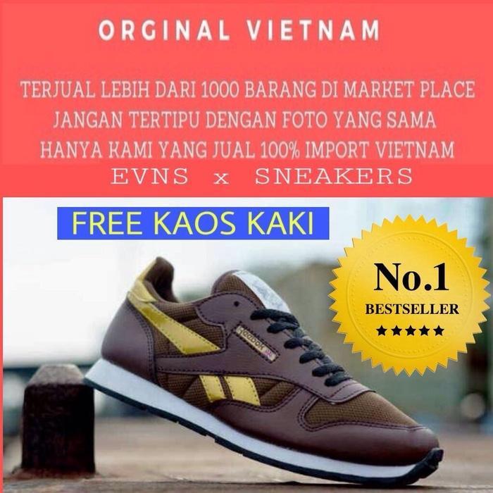 SEPATU REEBOK CLASSIC PRIA NEW IMPORT SPORT Asli Murah Terbaru Branded Original