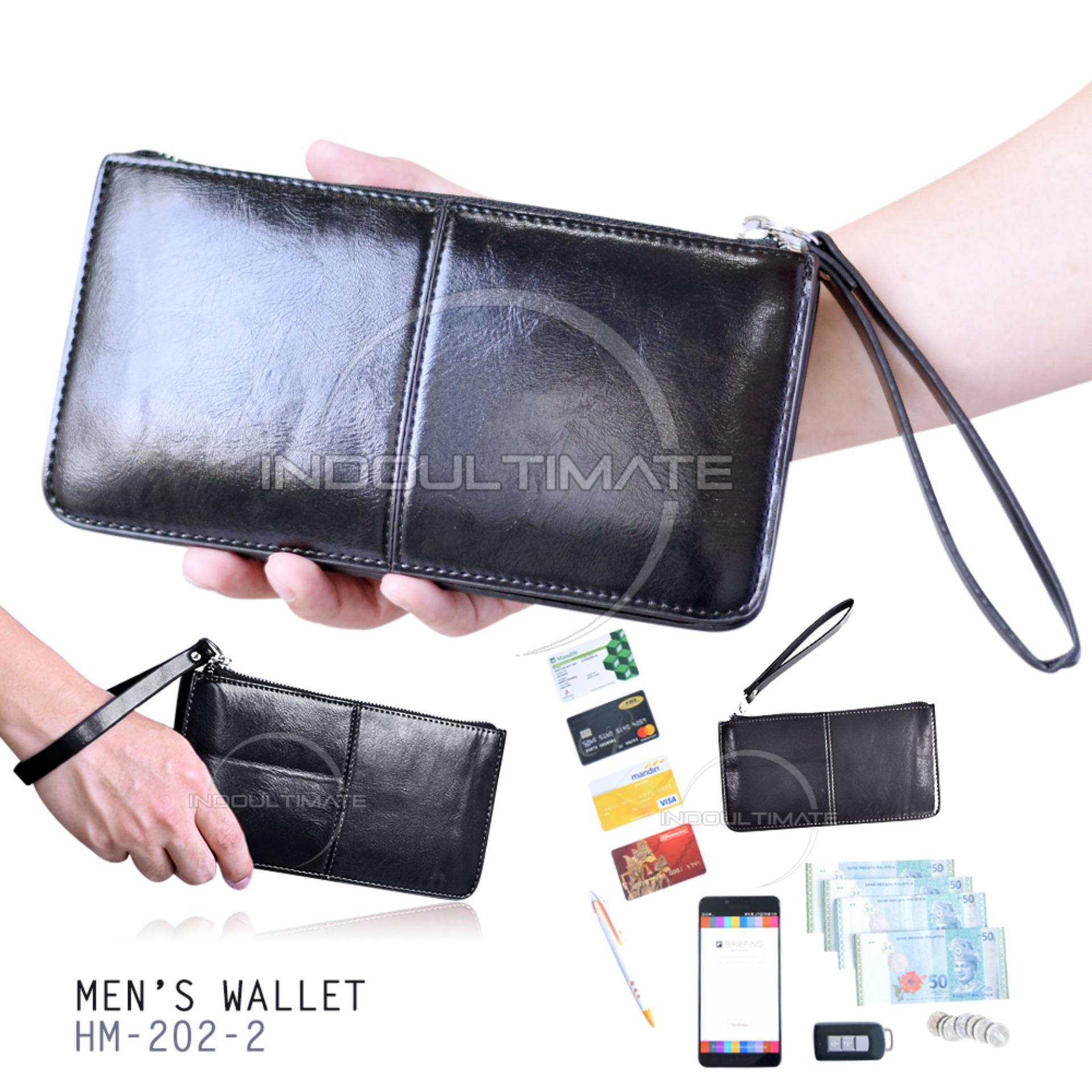 Ultimate Dompet Pria HM-202-2 / Dompet Cowok Kartu ATM Panjang Lipat Import Murah