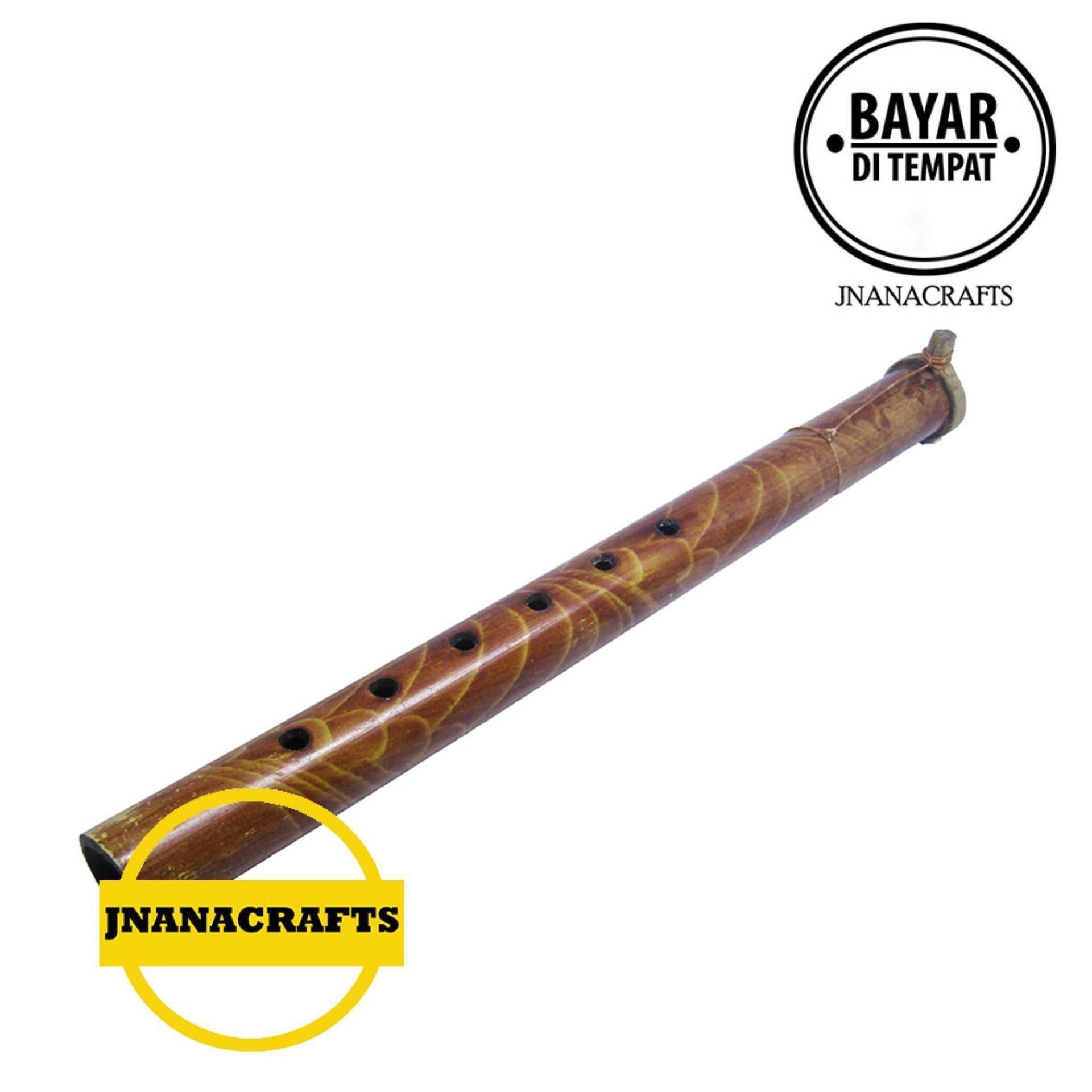 Suling Bambu Motif Simpel Besar 35cm By Jnanacrafts.