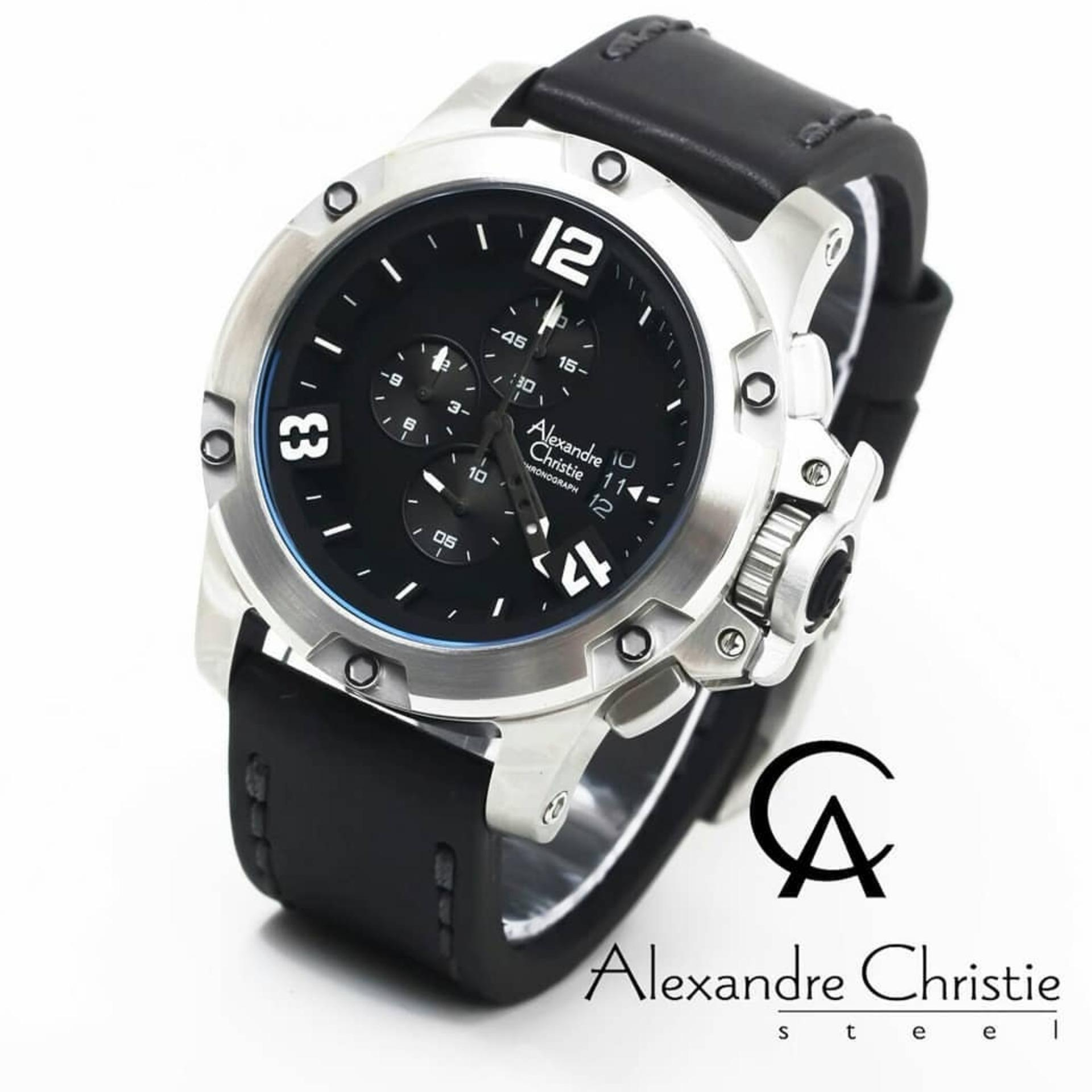 Jam Tangan Alexandre Christie Lazada Ac 6442 Couple Full Black Original Ac6295m Pria Leather Strap Hitam Silver