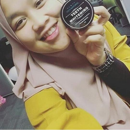 Teeth Whitening Charcoal - Charcoal Powder Activated Teeth Whitening Pot - Pemutih Gigi Paling Ampuh - Obat Pemutih Gigi - Activated Charcoal - Charcoal Powder By Cipluxshop.