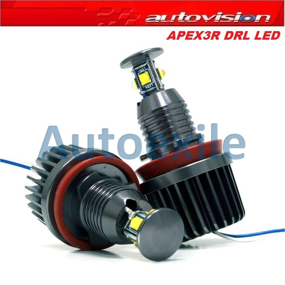 Autovision Apex3r DRL LED H8 40W 6000K Putih Lampu Mobil BMW E60 E61 E63 E64 E70 E71 E82 E89 E90 E91 E92 E93 X1 X5 X6 Z4