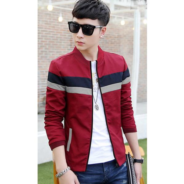 Ormano Jaket Fashion Pria SCOTT Slimfit Panjang Stretch Trend Fashion Pakaian Pria Polos Slim Fit All Size Fit to M, L Fashionable Shirt Clothes Man Fashion s0001 - Marun