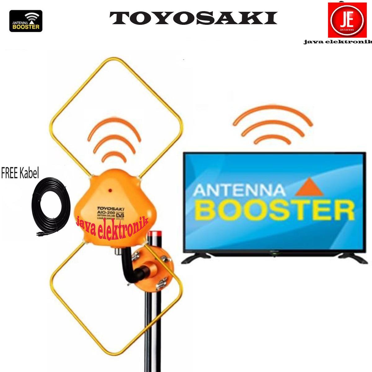 Toyosaki Antena TV Indoor & Outdoor + Booster + Kabel AIO-200