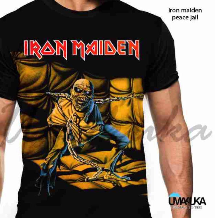 Iron maiden piece jail kaos musik 3d umakuka fullprint