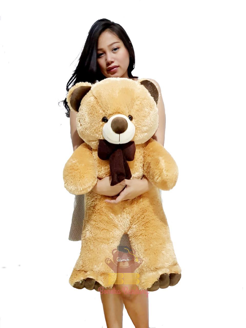 Jual Mainan Boneka Anak Terbaru Muslim Bonekabandung Beruang Teddy Bear Jumbo 80cm Coklat Susu