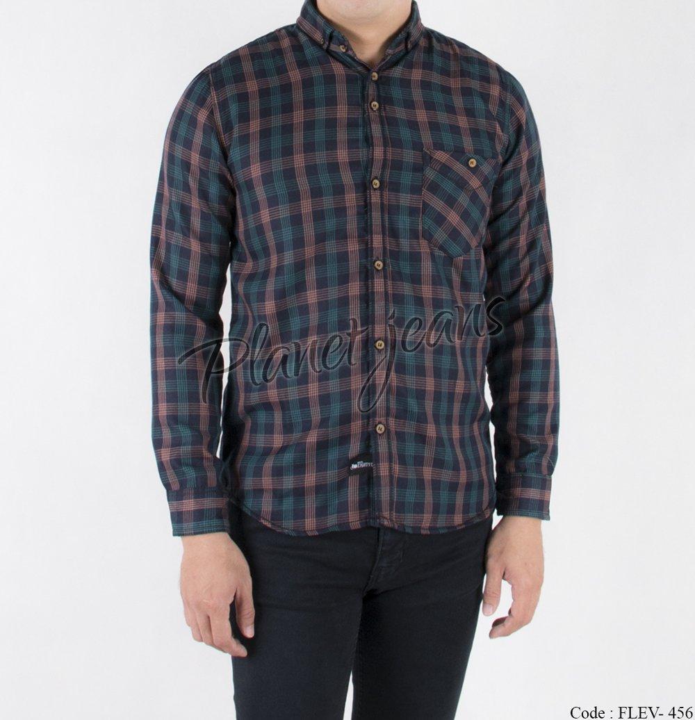 kemeja flanel pria slimfit lengan panjang dan kemeja motif kotak bahan flannel slim fit cowok flev-456 di lapak Planet Jeans planetjeans
