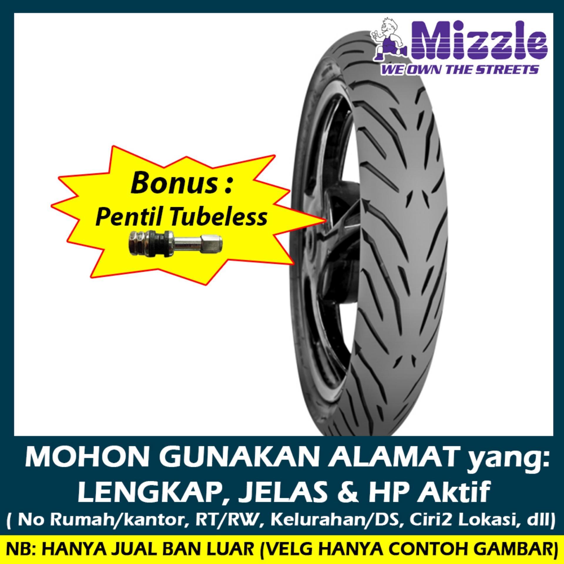 Mizzle M77 80/80 - 16 Tubeless Ban Motor [Free Pentil Tubeless]