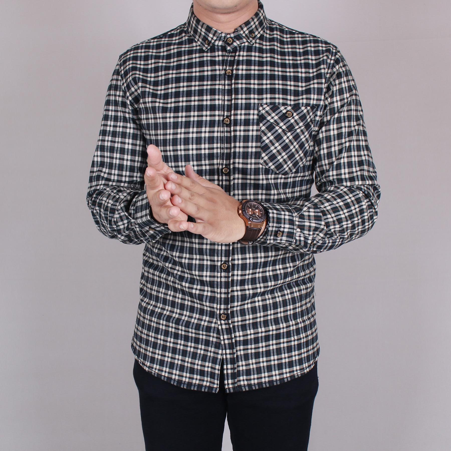 Zs_Fashion 6030 Kemeja Flanel Pria Lengan Panjang Exclusive Baju Kemeja Flanel Cowok Kerja Kantoran