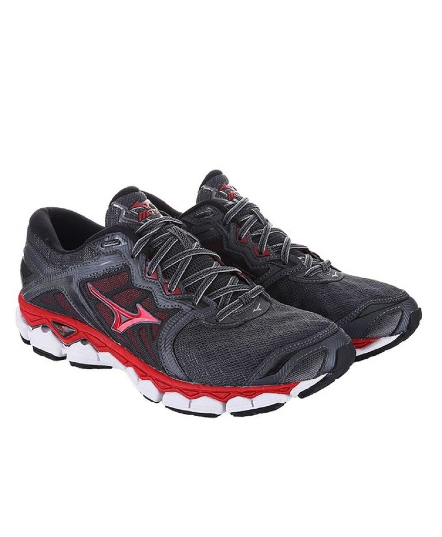 Sepatu Pria Mizuno Running Wave Sky - Iron Gate Merah Hitam a4dc3d0a15