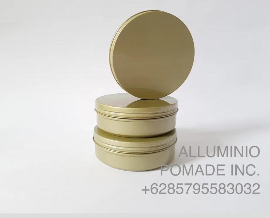 Kemasan Kaleng Pot Pomade Kosmetik Polos - 8x3 Cm 4 Oz 120 Gr - BRONZE