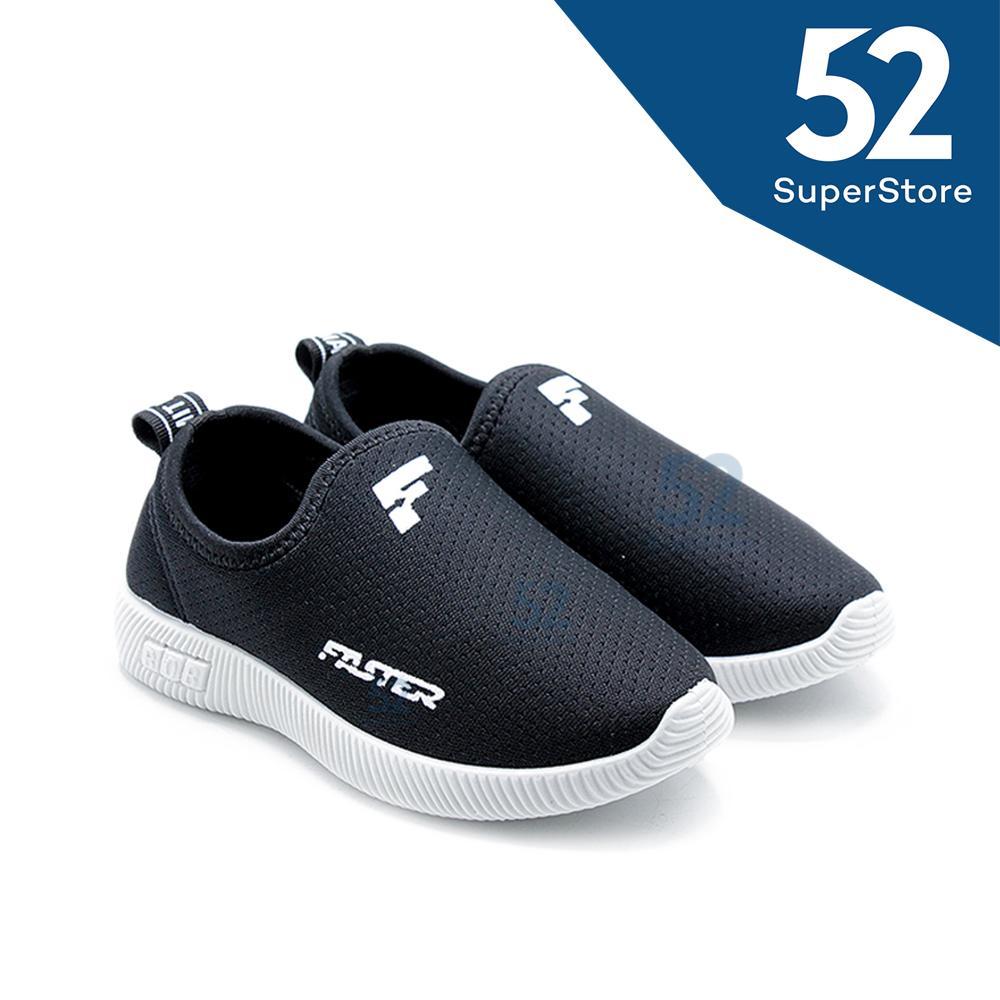 Faster Sepatu Sneakers Slip On Anak 1706-1768 Black Size 31-37