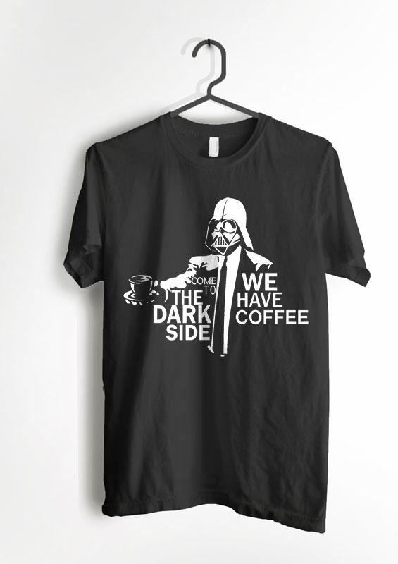Promo Kaos The Dark Side.we Have Coffee By Shidqi Fashion.