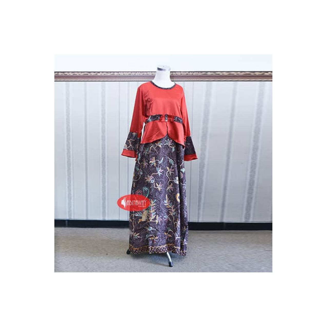 Gamis batik muslim kombinasi exclusive 141