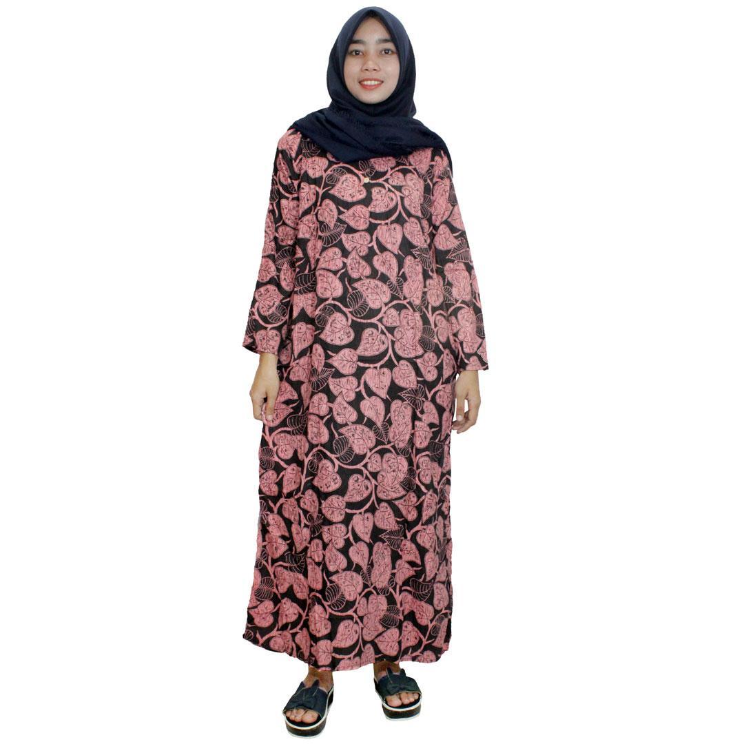 Longdres Batik, Daster Lengan Panjang Batik, Baju Tidur, Piyama, Kancing, Daster Bumil, Busui (LPT001-63) Batik Alhadi