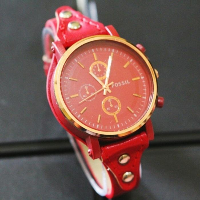 jam tangan wanita fossil murah / jtr 1064 merah / Jam tangan wanita / jam tangan model terbaru / jam tangan murah / jam tangan cantik / jam tangan modis / jam tangan elegant