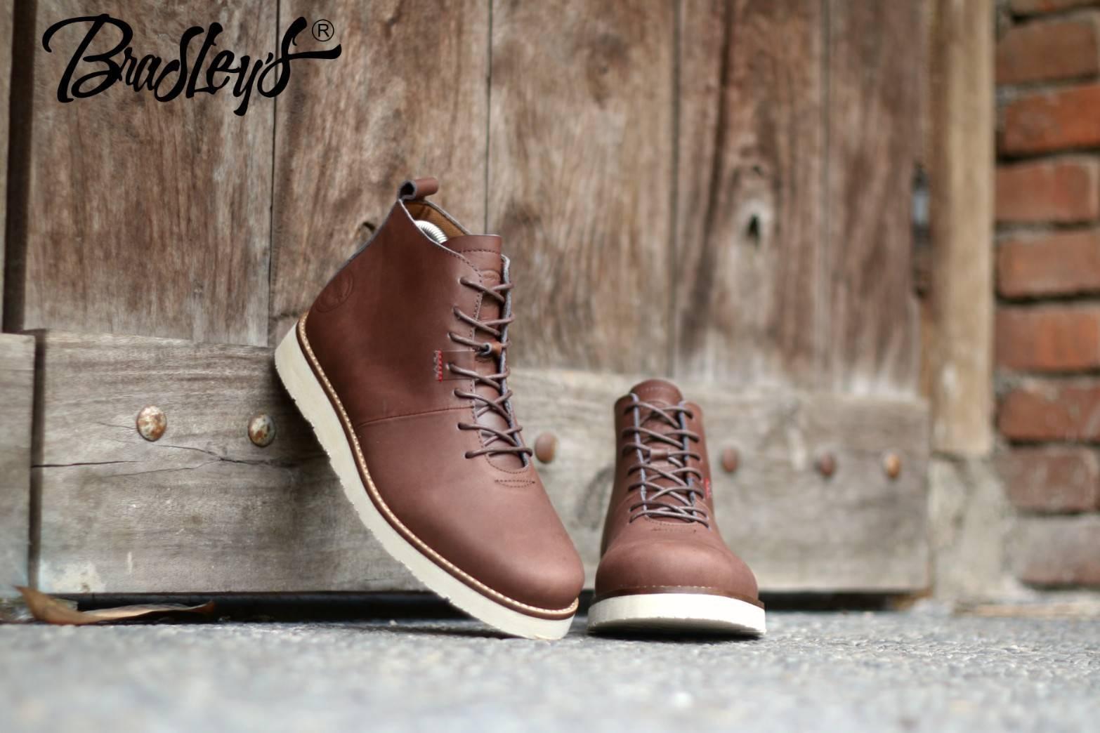 B A E WEAH Sepatu Brodo Kulit Bradleys Original - Brodo Sepatu Boots kulit Pria Dan Wanita Kulit Asli - Sepatu Boots Pria - Sepatu Boots Tinggi