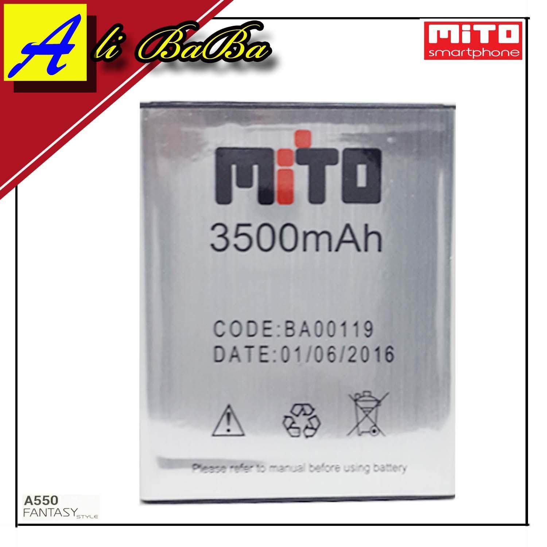 Baterai Handphone Mito Fantasy Style A550 BA-00119 Double Power Mito Batre HP Mito A550