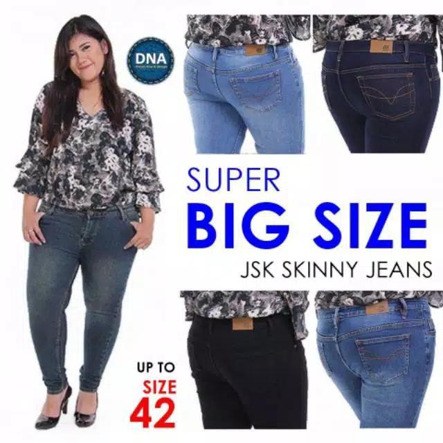 Celana Panjang Skinny Jeans Wanita Jumbo Big Size 5 Warna