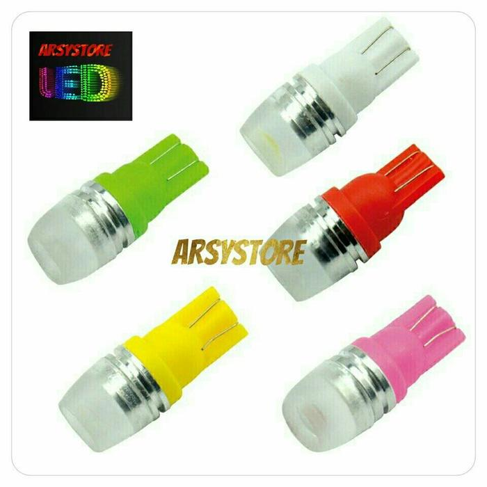 Lampu Led T10 5730 2 Titik Senja Sein Proyektor Concave Motor Mobil