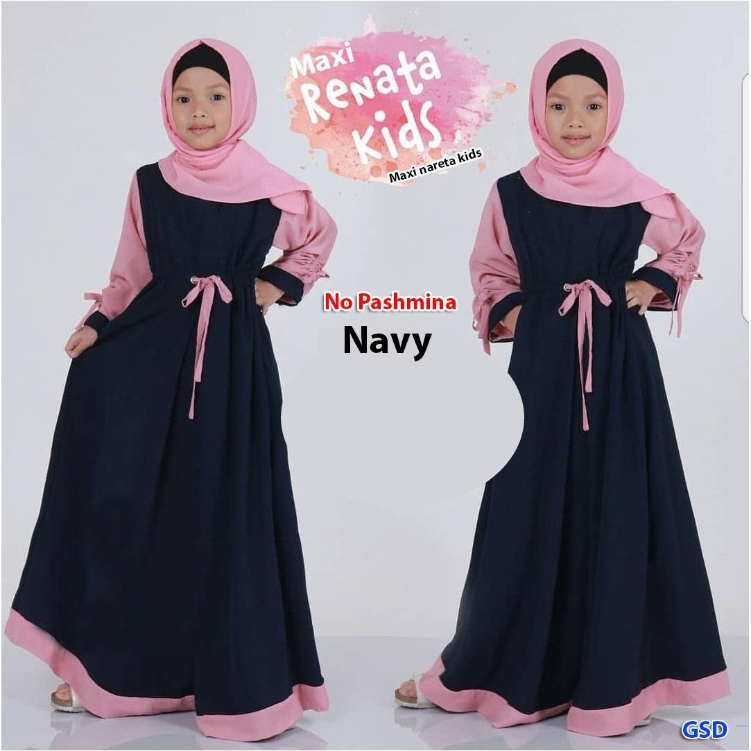 GSD - Baju Anak / Gamis Anak / Baju Muslim Anak / Dress Anak / Maxi Nareta Kids