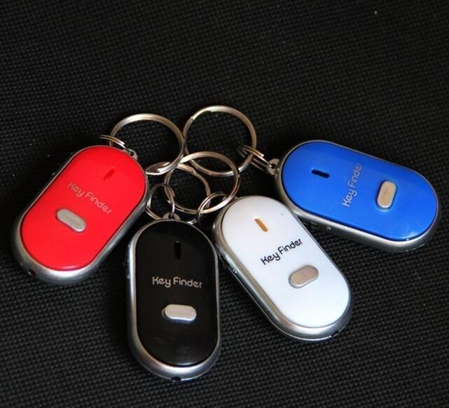 Gantungan Kunci Siul Anti Hilang Lupa Key Finder Keychain Senter LED - Random