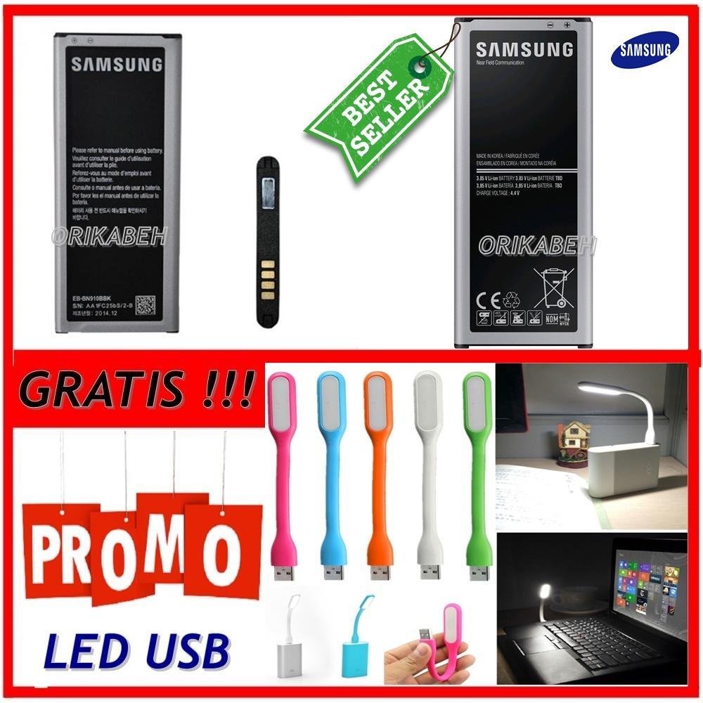 Samsung Baterai / Battery Galaxy Note 4 / N910 Original - Kapasitas 3220mAh + Gratis Lampu