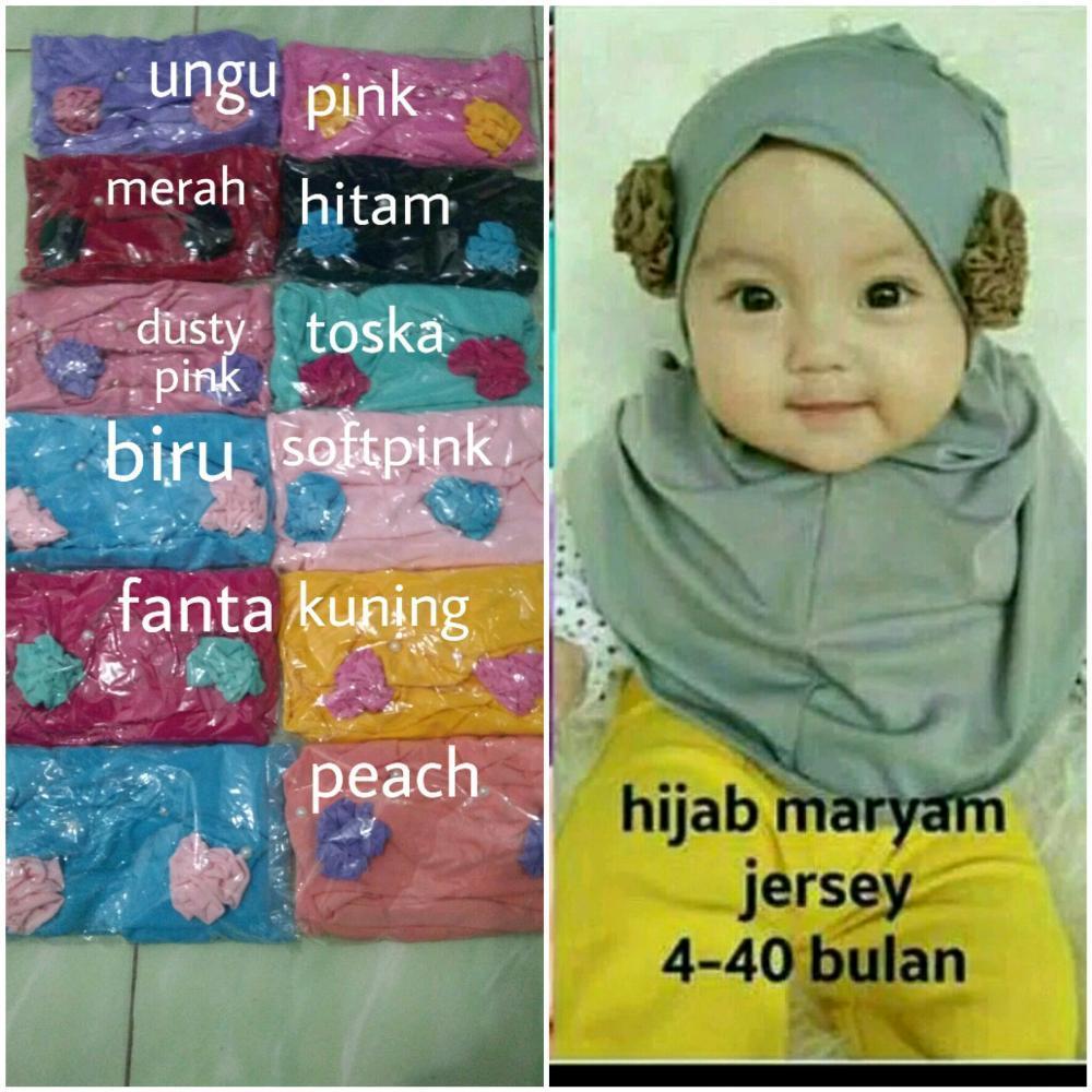 jilbab bayi maryam- kerudung anak 0-3 tahun- hijab bayi murah- jilbab anak lucu - kerudung bayi di lapak AF ONLINE 19yuniarti