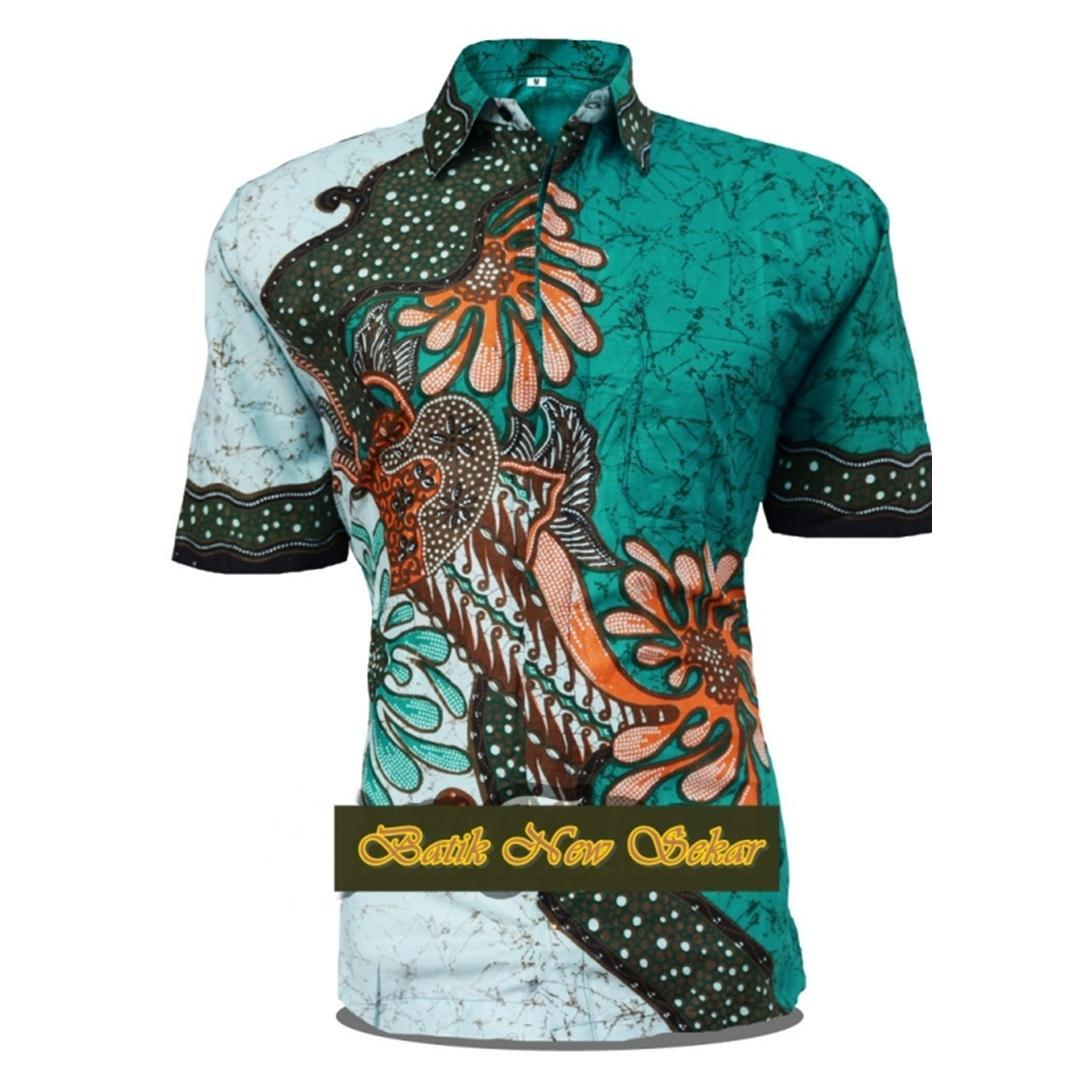 Batik Pekalongan / Fashion Pria / Pakaian / Kemeja Batik Pria  / Hem Batik Pria / Batik / Hem / Kemeja Batik Pria Lengan Pendek / Hem Batik Cowok / Hem Batik / Kemeja / Baju Batik / KemejaPria / Baju Cowo / Batik Murah / Motif Bunga