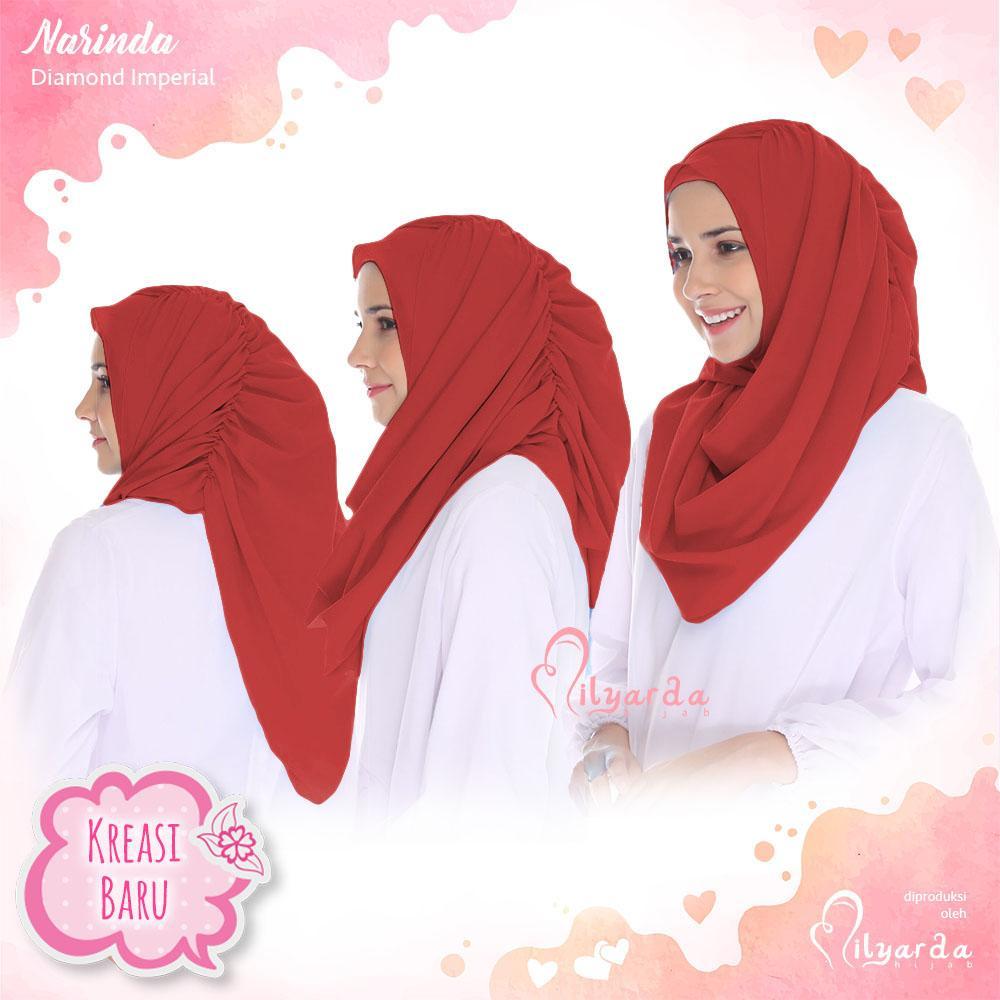 Milyarda Store Jilbab Instan Narinda - [Warna Merah]