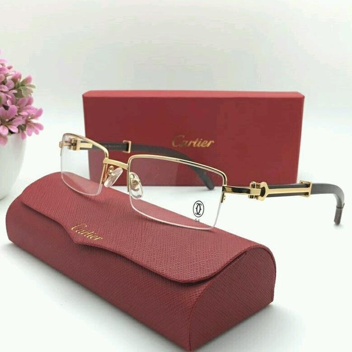 Frame Kacamata Premium Cartier 61399852 Gold 99d09a5df4