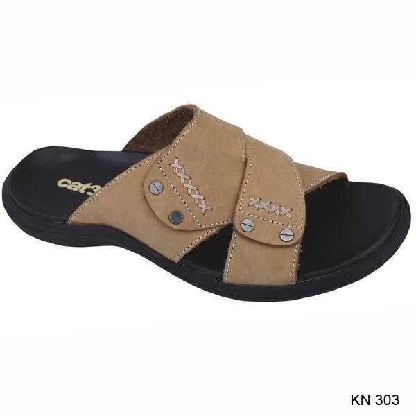 PROMO SEPESIAL ULTAH LAZADA - Gratis Ongkir - Bisa COD - Catenzo Sandal Pria  Cream - 44fed71b76