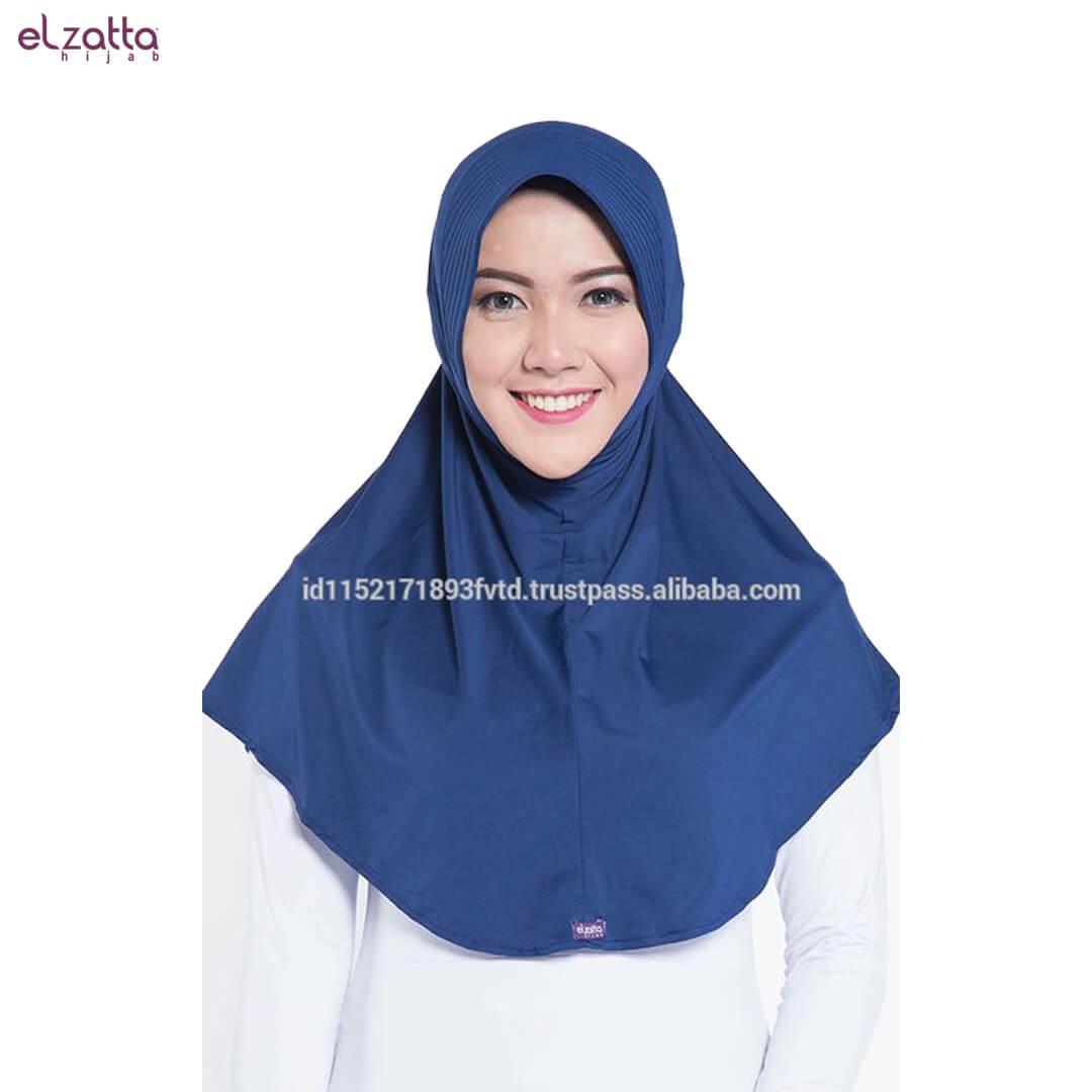 Elzatta Hijab Atau Hijab Atau Hijab Instan Atau Bergo Atau Elzatta Basic - E002 NAVY