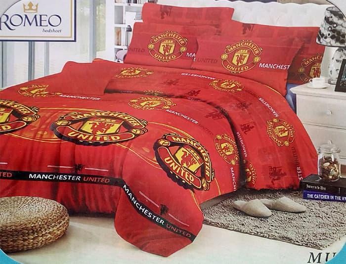 PROMO PALING MURAH Sprei Romeo ukuran 160 x 200 / Queen / No.2 - Manchester United TERLARIS