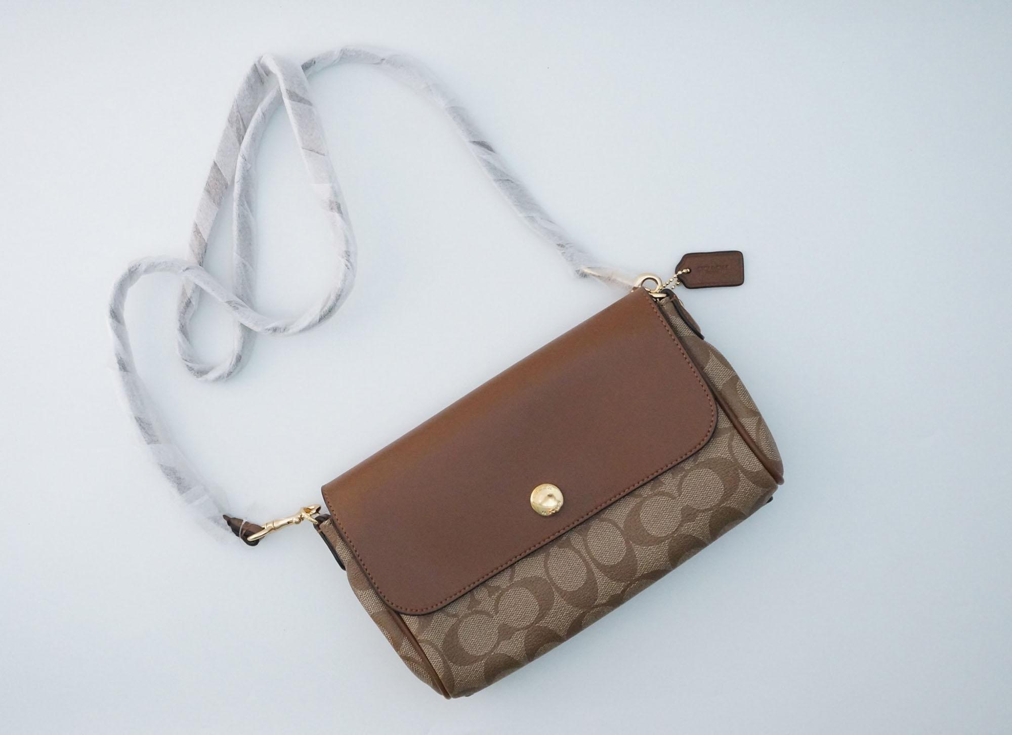 Jual Tas Wanita Coach Terbaru Scarlet Bag Hijau  Import Korea Pesta Reversible Crossbody F59534