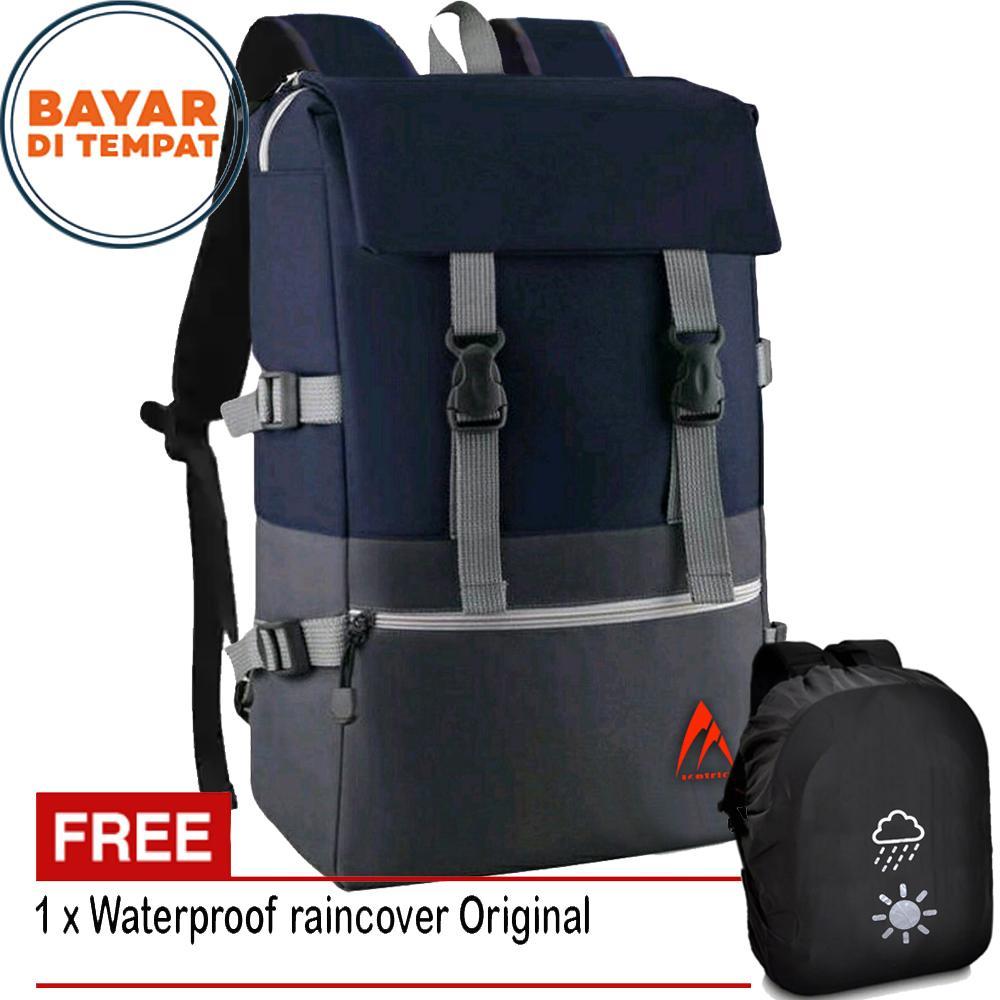 2e92fe38cf Metric Backpack Tas Ransel Pria Korean Unisex Import Design 17 Inchi  2916-17 RZ Polyester