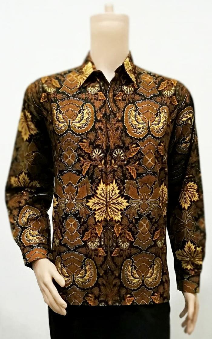 Kemeja Batik Solo. Kemeja Batik Garuda Daun Panjang