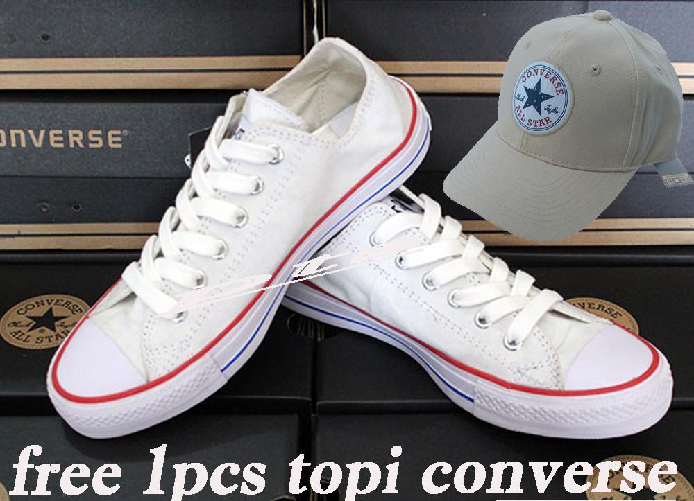 TOP PRODAK SEPATU UNISEX CONVERSE ALL STAR FREE 1PCS TOPI CONVERSE