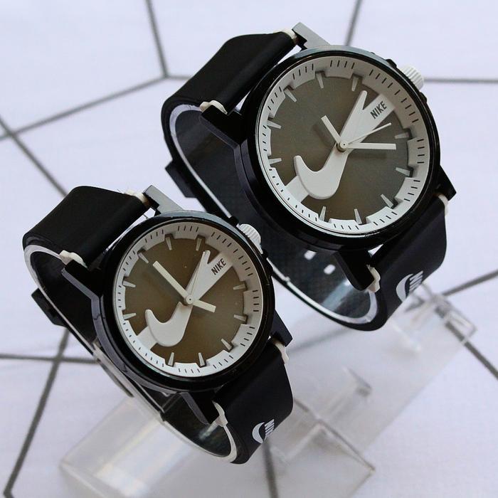 Jam tangan couple nike pasangan bahan rubber / jtr 1229