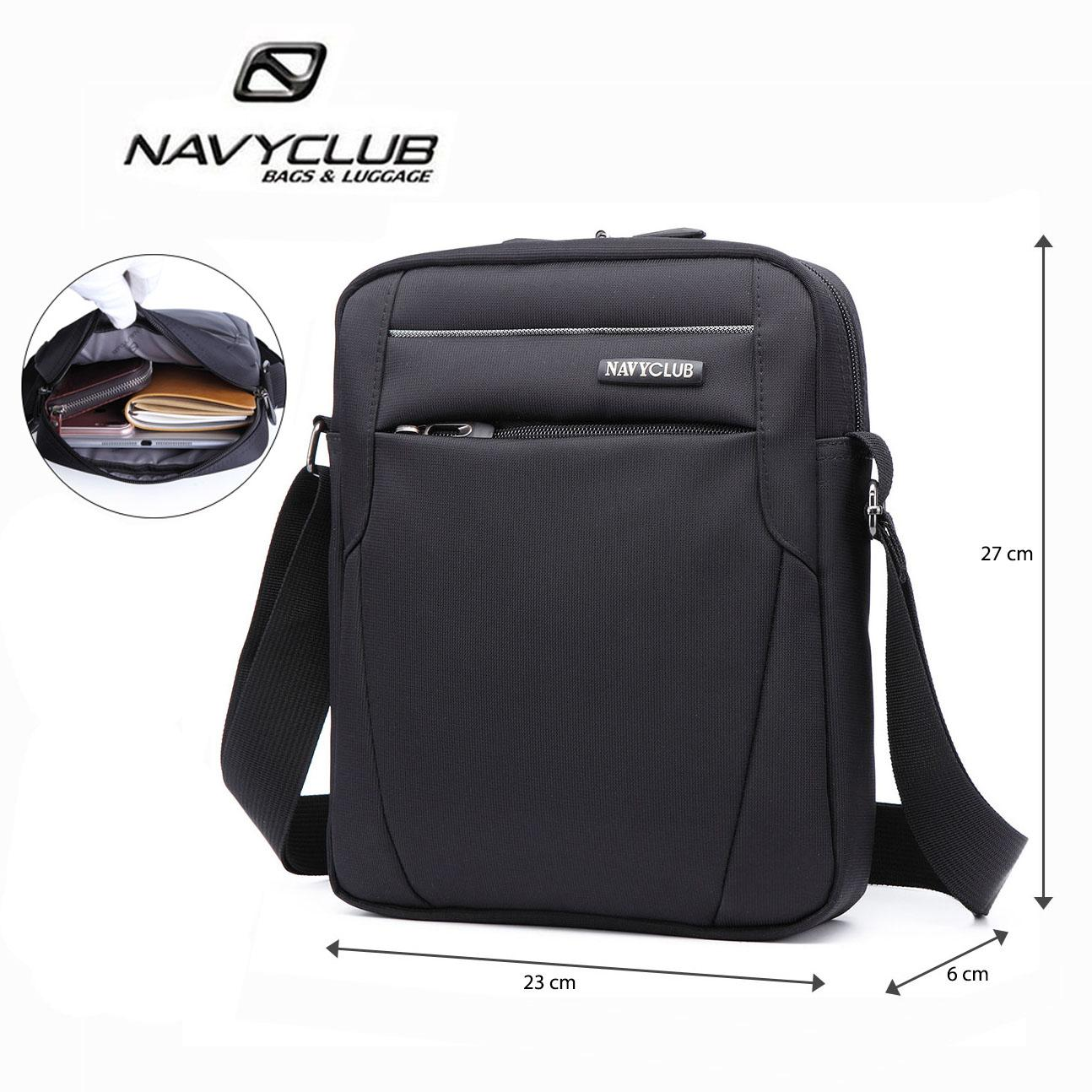 Tas Pelindung Laptop Berkualitas Lenovo Original Navy Club Selempang Travel Tablet Ipad Tahan Air Eeej Pria Wanita