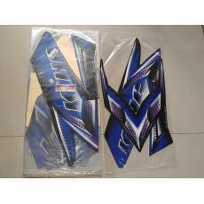 Stiker Bodi & Lis Body & Striping Rxking 2008 Hitam Biru