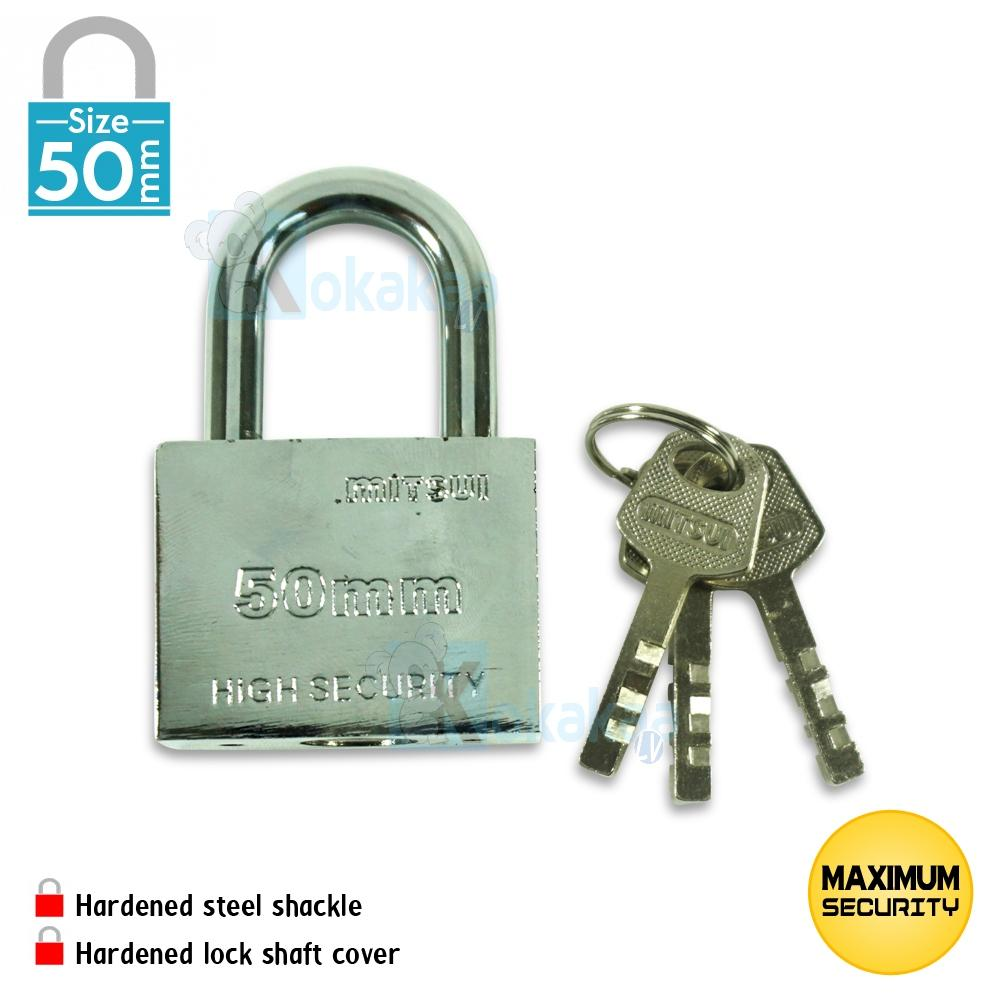 Mitsui Gembok Baja Size Medium Mpl 50mm High Security Padlock Anti Karat By Kokakaa Living.