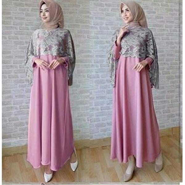 J&C Dress Maxi Razela / Dress Maxi / Maxi Muslim / Maxi Dress / Dress Muslim / Busana Muslim / Dress Brukat / Baju Muslim / Baju Gamis Wanita / Dress Jersey / Hijab Fashion / Hijab Style