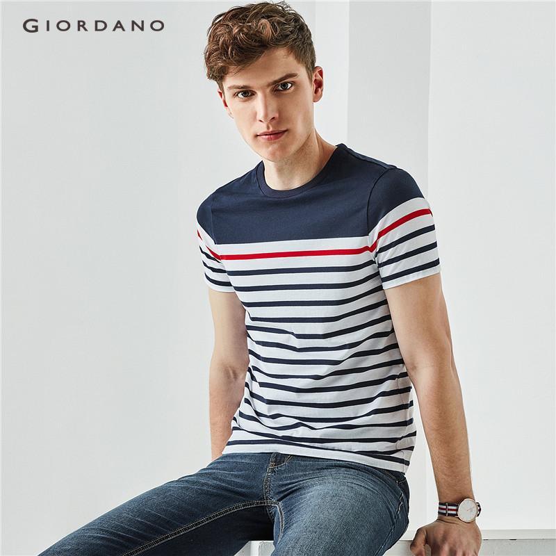 Giordano Men Stripe short sleeves tee 01028212